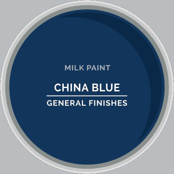 China Blue Milk Paint Color Chip
