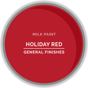 Holiday Red Milk Paint Color Chip