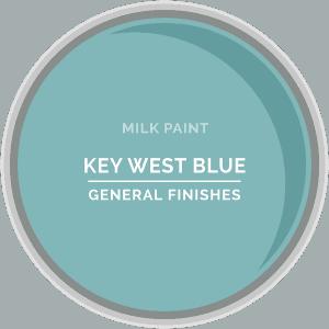 Key West Blue Milk Paint Color Chip