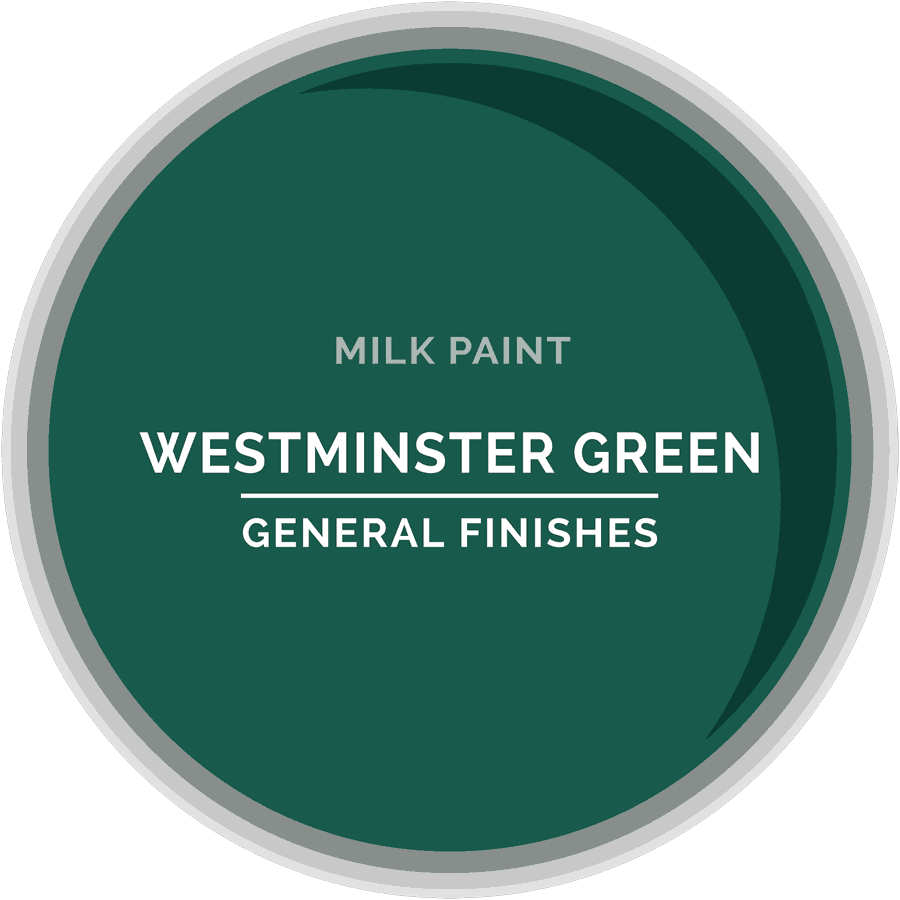 Westminster Green Milk Paint Color Chip