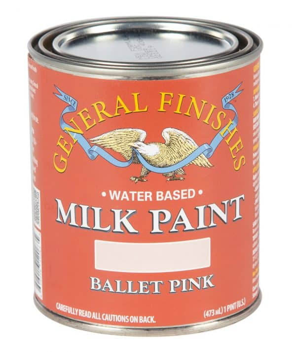 Pint of Ballet Pink Milk Paint by General Finishes