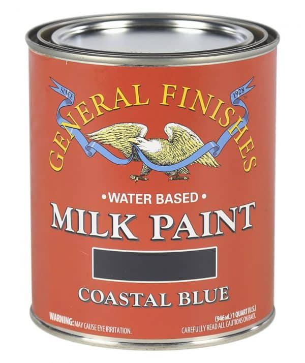 Quart of Coastal Blue Milk Paint by General Finishes