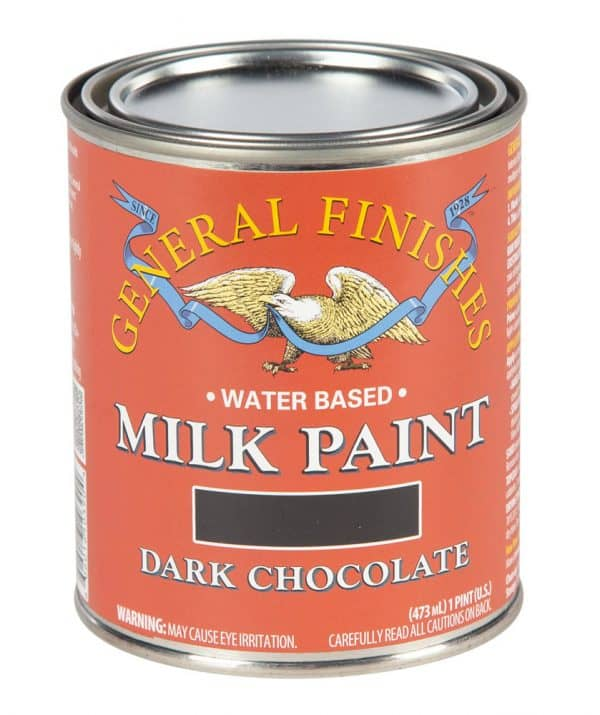 Pint of Dark Chocolate Milk Paint by General Finishes