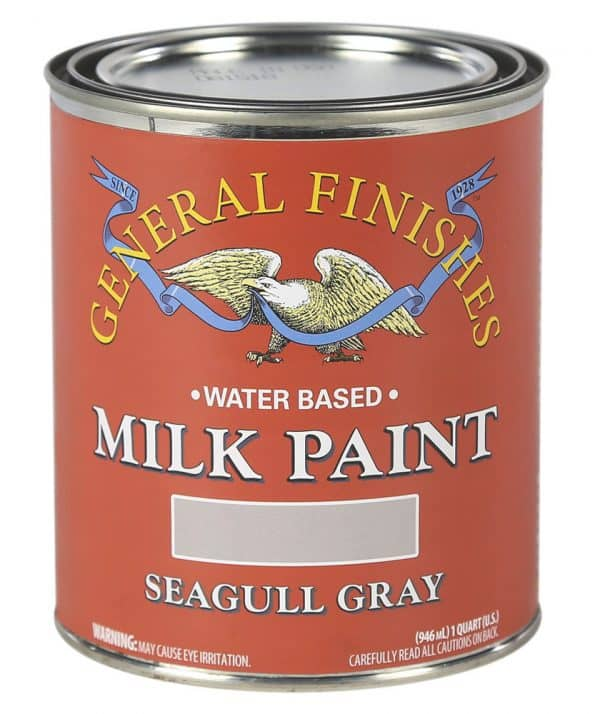 Quart of Seagull Gray Milk Paint by General Finishes