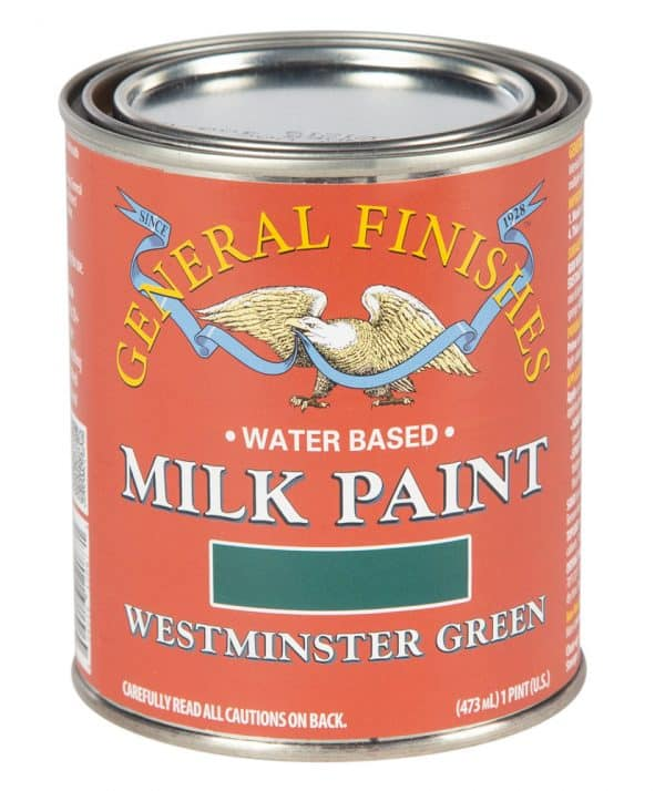 Pint of Westminster Green Milk Paint by General Finishes