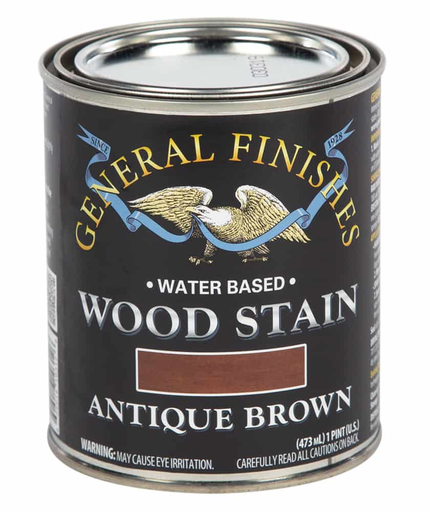 Antique Brown Water Based Wood Stain by General Finishes