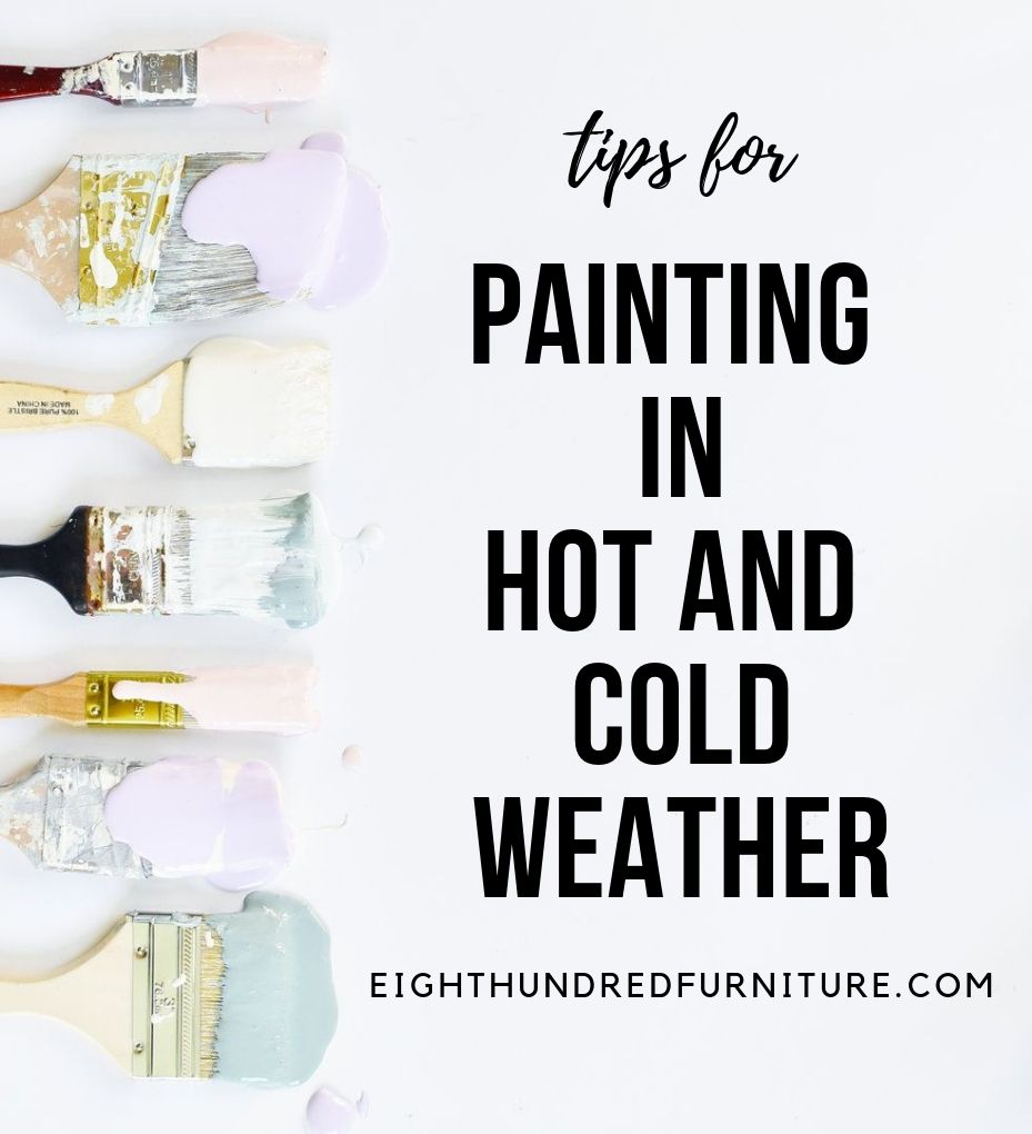paint brushes, paint on paint brushes, tips for painting in how and cold weather, flat lay