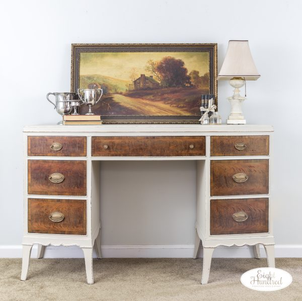 Vintage desk in Marzipan and Arm-R-Seal