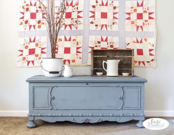 Lane cedar chest, Bergere, Miss Mustard Seed's Milk Paint, Hemp Oil, Eight Hundred Furniture, Jenn Baker