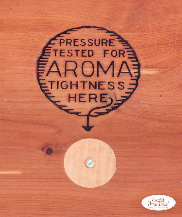 Pressure treated for aroma tightness cedar chest