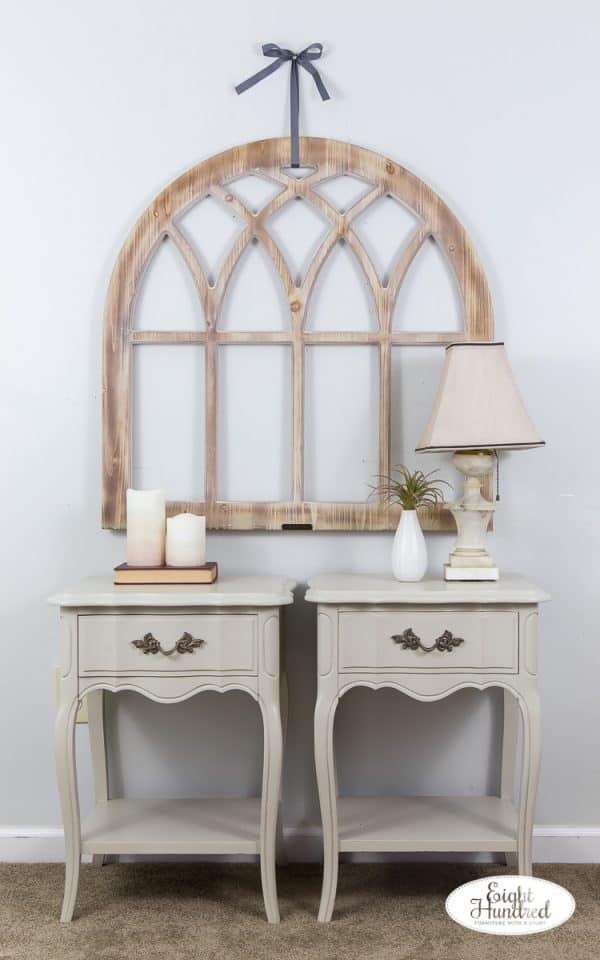 French provincial nightstands in general finishes milk paint