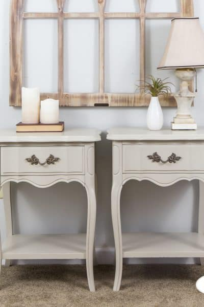 French provincial nightstands in general finishes