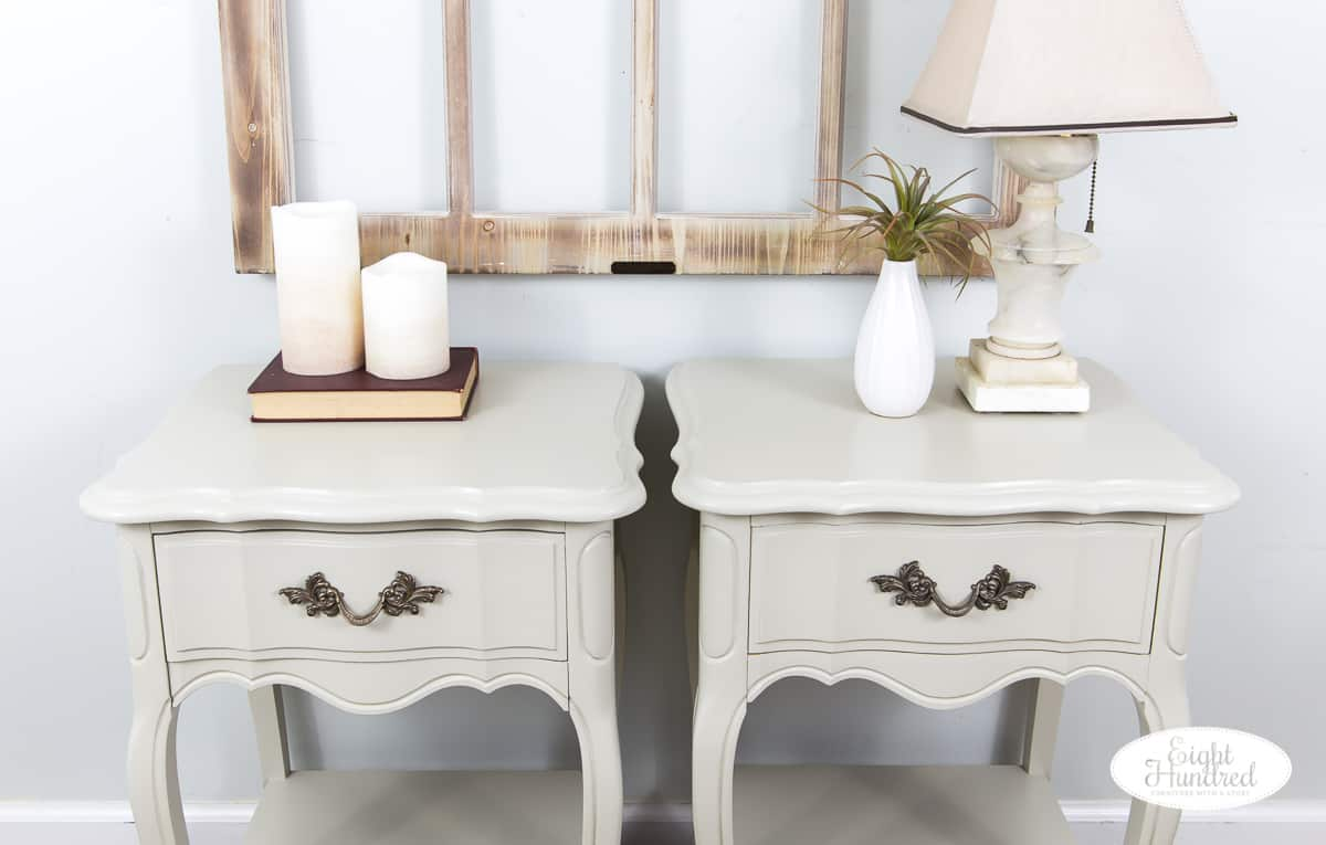 Top of french provincial nightstands in general finishes milk paint