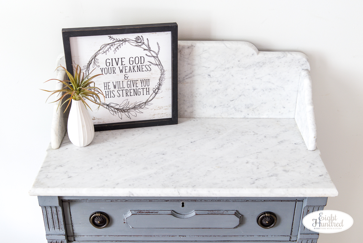 Top of marble top washstand