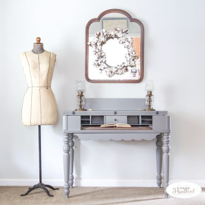 Perfect Gray Spinet Desk