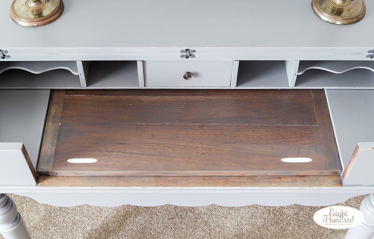 Perfect Gray Spinet Desk - Eight Hundred Furniture