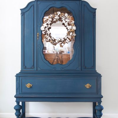 Milk Painted Vintage China Cabinet