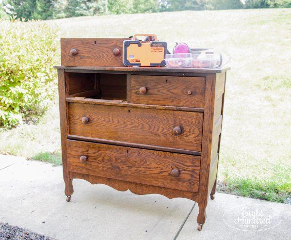 "Oak dresser ""before"