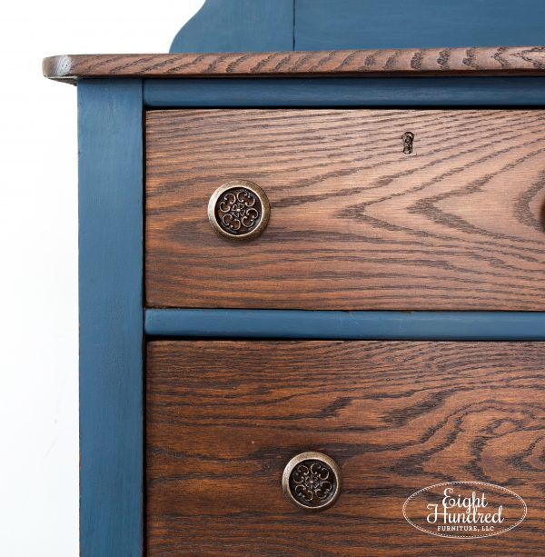 Drawers on oak dresser painted in Provincial Water Based Wood Stain by General Finishes