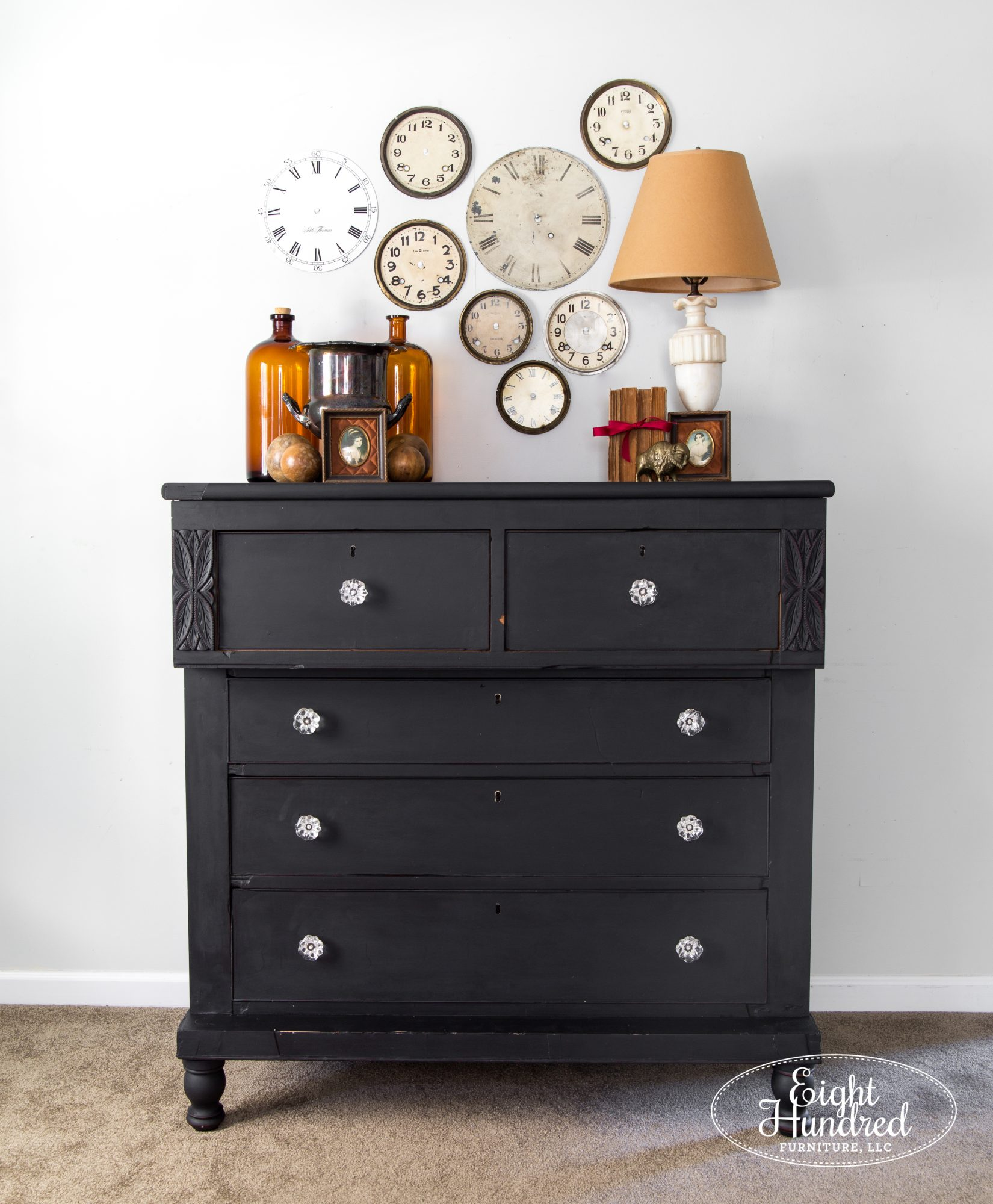 Empire dresser painted in Typewriter by Miss Mustard Seed's Milk Paint