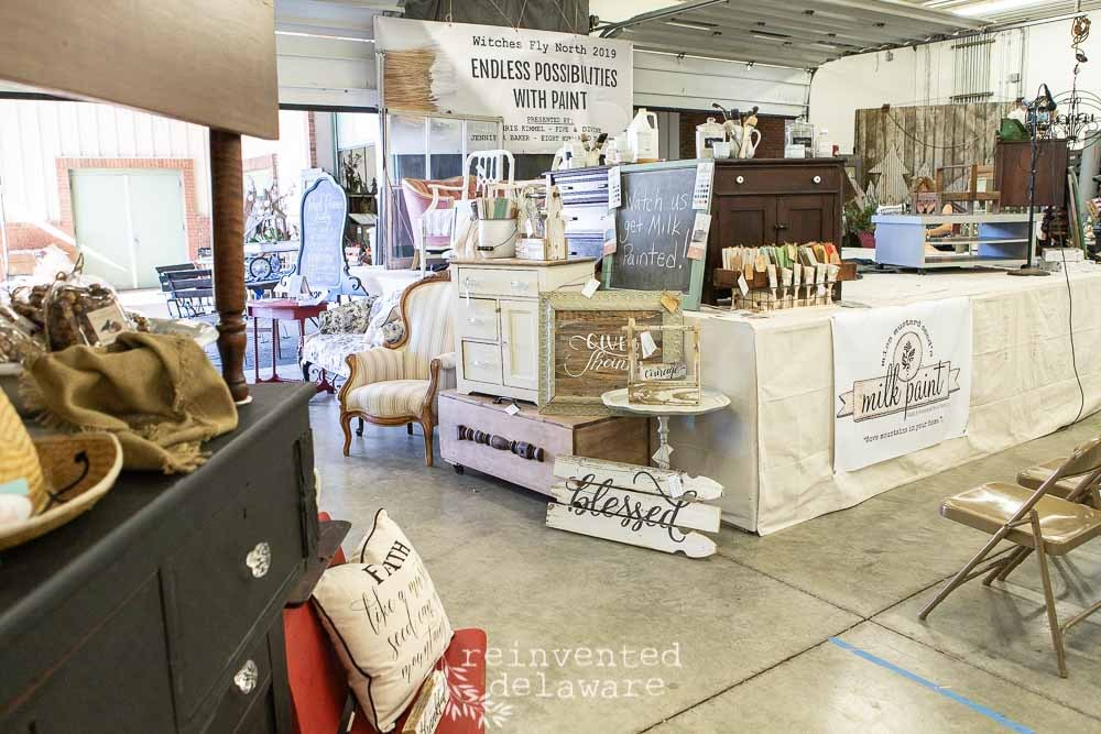 Witches Fly North Antique and Artisan Show 2019, Miss Morgan's Milkweed Antiques, Eight Hundred Furniture, Jenn Baker, Cindy Rust, Reinvented Delaware, Miss Mustard Seed's Milk Paint, Lebanon Pennsylvania, Lebanon Expo Center