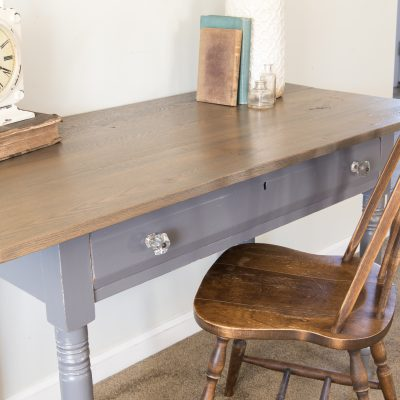 Antique Table in Driftwood Milk Paint