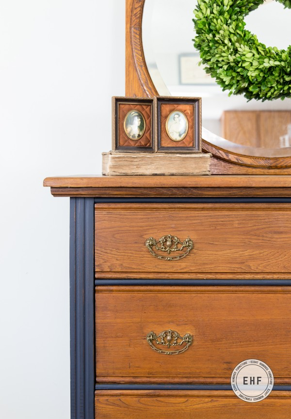 Antique dresser painted in Artissimo by Miss Mustard Seed's Milk Paint and sealed with Hemp Oil by Eight Hundred Furniture