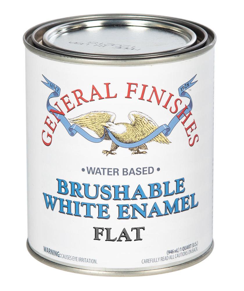 Brushable White Enamel Flat Quart General Finishes