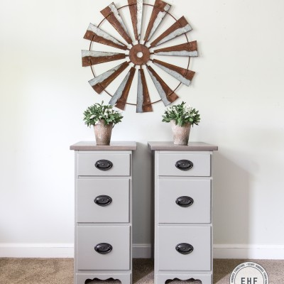 Empire Gray Nightstands