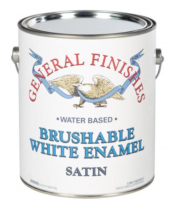 General Finishes Brushable White Enamel Satin Gallon