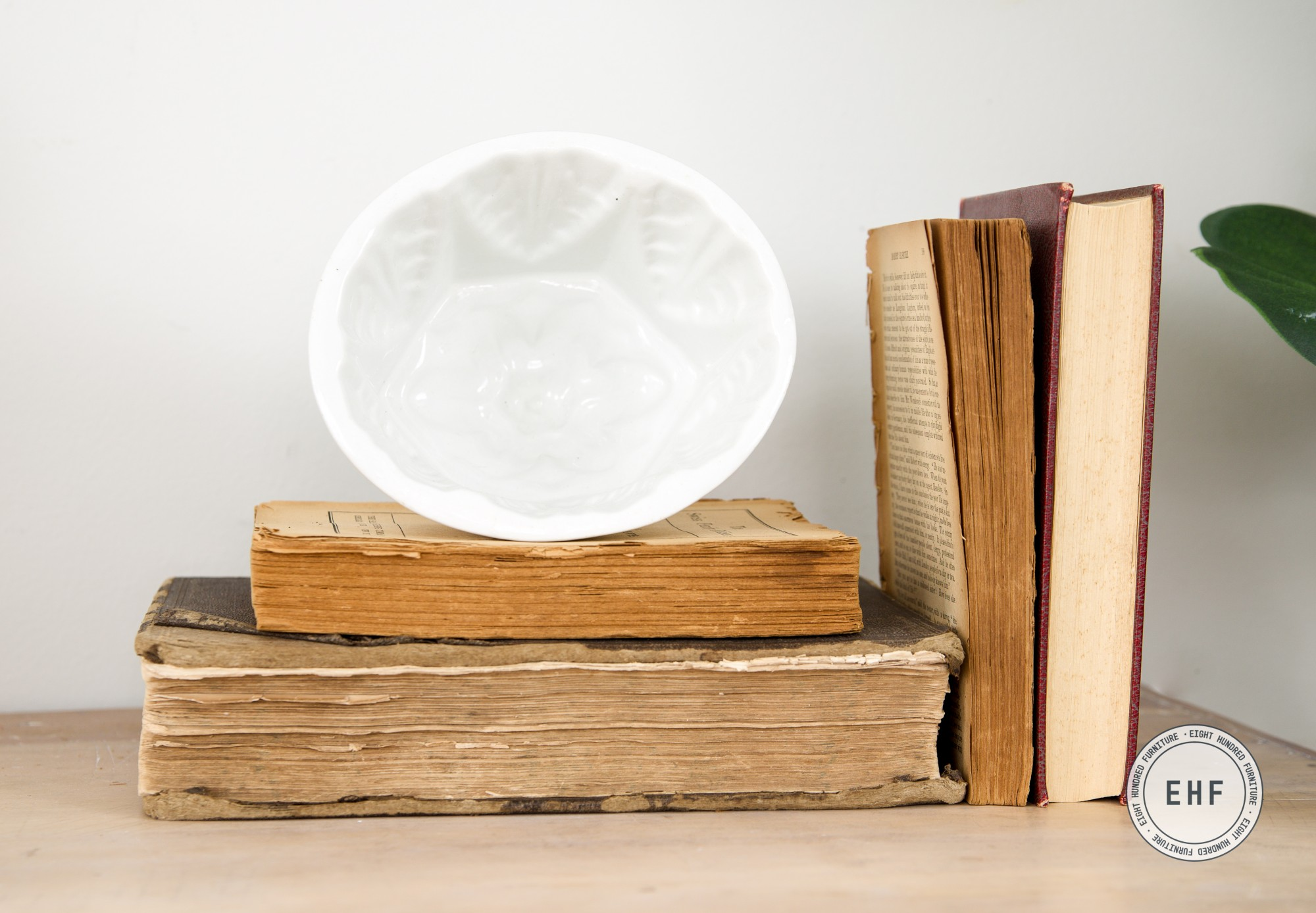 Ironstone Jelly Mold with old books