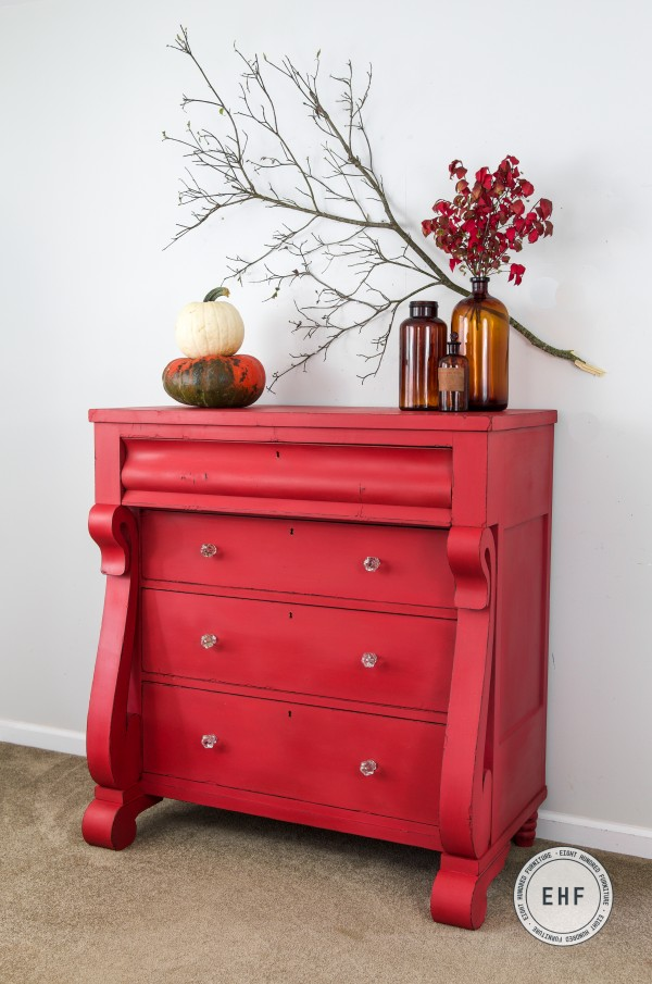 Empire dresser painted in mix of Tricycle and Mustard Seed Yellow by Miss Mustard Seed's Milk Paint