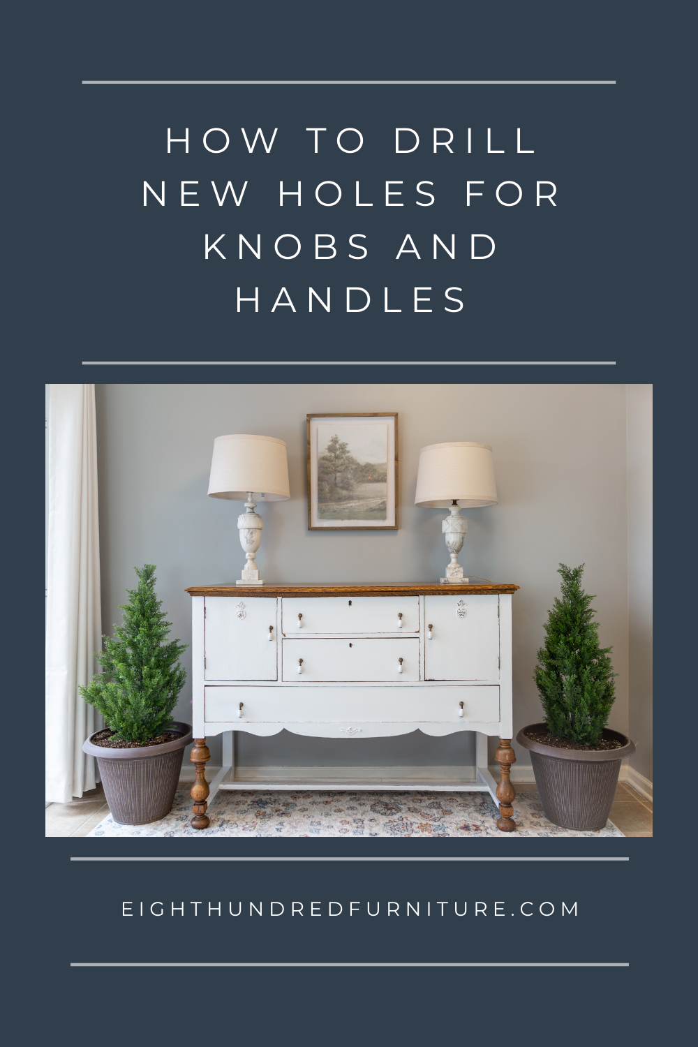 How to drill new holes for knobs and handles on furniture