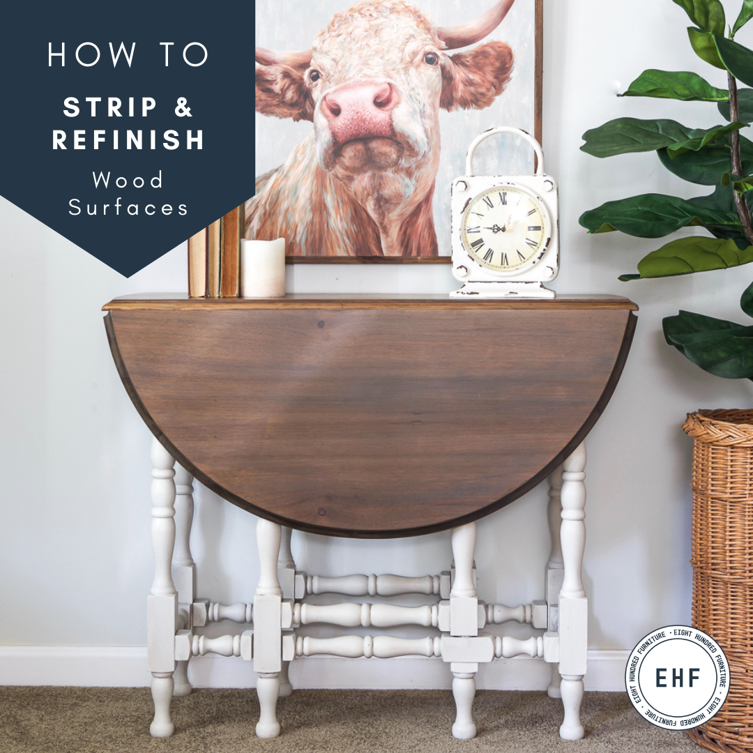 How to Strip Wood and Refinish With Wood Stains