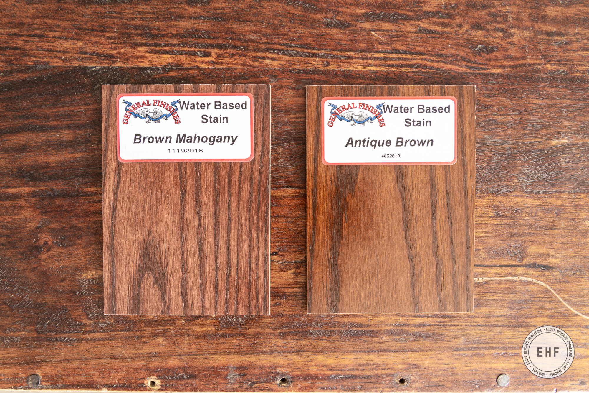 Brown Mahogany and Antique Brown Wood Stain by General Finishes