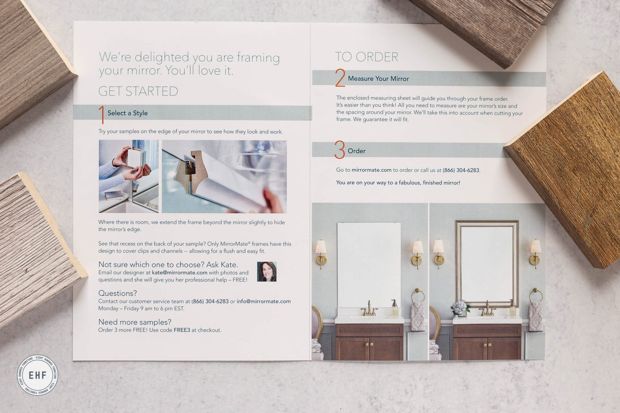 MirrorMate® samples, Eight Hundred Furniture