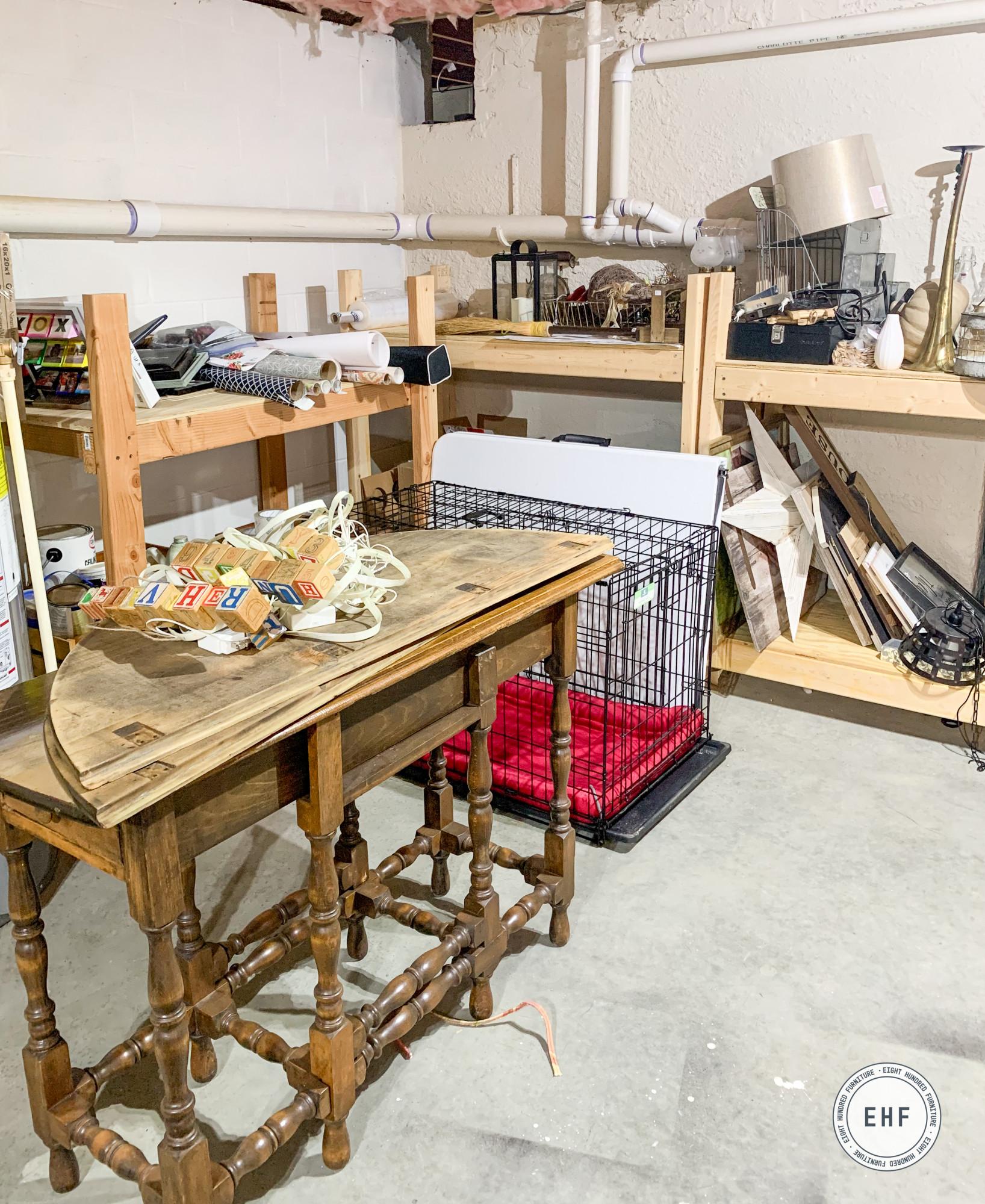 Basement studio makeover, eight hundred furniture