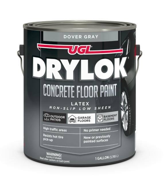 Drylok concrete floor paint in Dover Gray